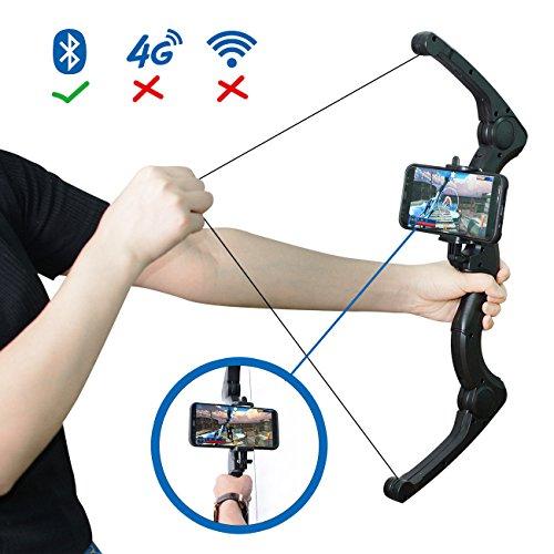 MOZEEDA AR Game Bogenpfeil, Faltbarer Bogen für Kinder & Erwachsene, AR Bluetooth Schließen Sie alle IOS & Andriod Smartphone für Virtual Reality Fun mit Spielen