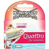 Wilkinson Sword Quattro for Women Razor Blades, 3 Blades