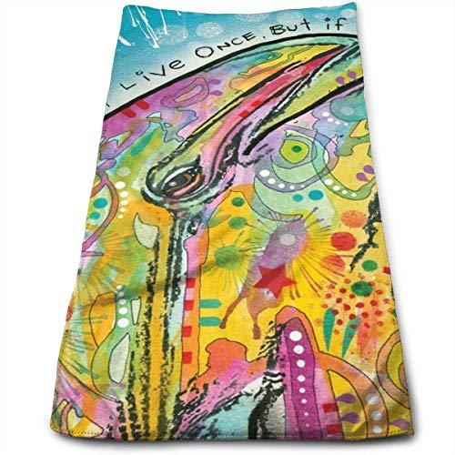 ewtretr Asciugamani Viso-Mani, Dean Russo Dolphin Multi-Purpose Microfiber Towel Ultra Compact Super...