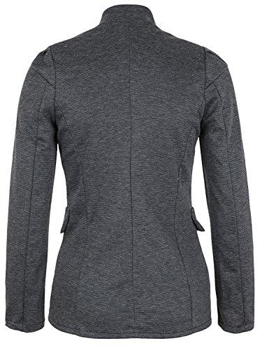 Danaest - Veste de tailleur - Blouson - Uni - Manches Longues - Femme Gris