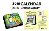 The Simpsons Official Day to Day Desk CALENDARIO 2019 + The Simpsons FRIGORIFERO