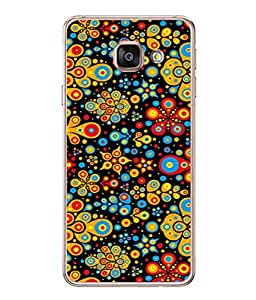 PrintVisa Designer Back Case Cover for Samsung Galaxy A3 A310 (2016 Edition) (multi colored dotted stylish pattern)