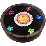 Bombay Haat Handcrafted Tealight Candle Holder / Floating Diya / Diwali Diya For Home Décor And Diwali Gifting ( Multi Colour )