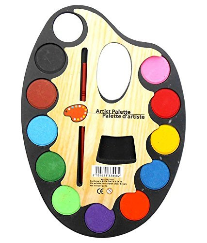 Ruon Deals™ Large Artist Palette Water Colour Set 12 Colour + Artist Paint Brush 51XOcOFxV 2BL
