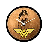 Mc Sid Razz Official DC Comics- Grunge Wonder Women Wall Clock Gift Set