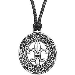 Medieval francés flor Lily Fleur de Lis Accesorios de Slipknot colgante collar joyas