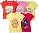 #9: Cherokee Girls' Plain Regular Fit T-Shirt (Pack of 5)