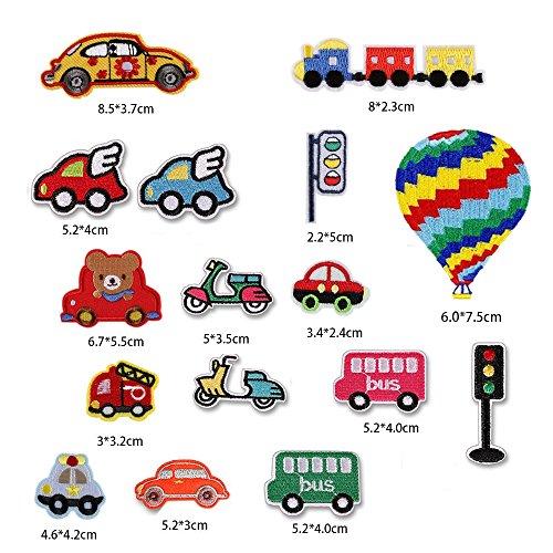 colorido camión Truck niños 4,6x7,4cm bordados para ropa Parches