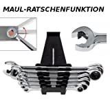 Würth Zebra Ratschenringschlüssel  6-teilig 8, 10, 12, 13, 17, 19 mm inkl. Kunststoffhalter  Ratschenfunktion in der Ring- und Maulseite  Ratschen Ringmaulschlüssel