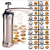 Kitty princess 20 Pcs Acier Inoxydable de Cuisson Cookie Pump Machine de Presse Biscuit Cookie Maker Stamp
