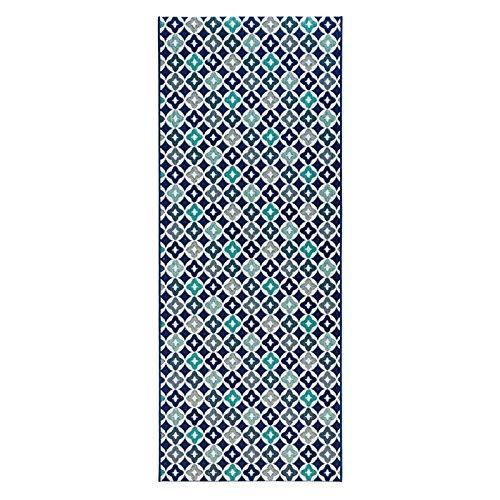 200 Läufer (Zala Living Reflect Küchenläufer, Polypropylen, Blau, 80x200 cm)