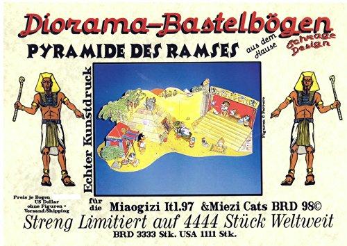 Schrage Design - Diorama-Bastelbögen - Pyramide des Ramses - Kunstdruck - für die Ü-Eier Figuren-Serie