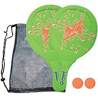 Schildkröt Funsports 970219 Jeu de Raquettes Plage Mixte Enfant, Vert/Orange