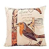 Kissenbezug,Hansee® Baumwoll Leinen LOVE Bird gedruckt Halloween Kissenbezug Fall Sofa Bed Home Dekor