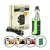 Steamax / Wismec RX Gen3 300 Watt + Reux Tank 6 ml + 3 x 2500 mAh Akku + 3 x 10 ml SC-Liquid (nikotinfrei) E-Zigarette E-Shisha E-Zigaretten-Set (grün)