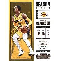 2017–18Dépasse Panini Season Ticket # 58Jordan Clarkson Los Angeles Lakers Basketball carte