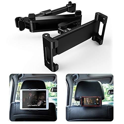 Tablet Halterung Auto Kopfstützen, Warxin KFZ Kopfstütze Tablet Halterung 360 Grad Drehung Kopfstützenhalter Einstellbare Verschiedene Größen Universal für iPad Mini Air 6-12 Zoll Handy, Tablet