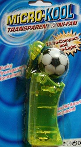 Micro Kool Super Cool Persönlichen Pocket Fan Euro Fußball Mini Fan grün