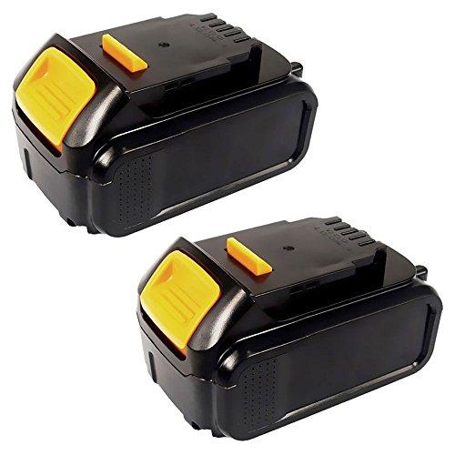 CELLONIC® [2x] Batterie premium (18V, 3Ah, Li-Ion) pour Dewalt DCD771C2, DCG412N, DCD795D2 - DCB204, DCB203, DCB201, DCB200, DCB183, DCB182 Batterie de rechange, Accu remplacement outil