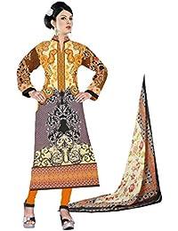 BalajiWomen's Cotton Unstitched dress material(1008-multicolor-free size)