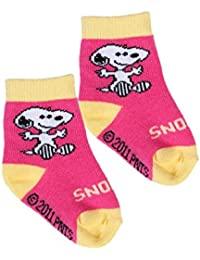 Snoopy Baby Girls' Socks Blue fucsia