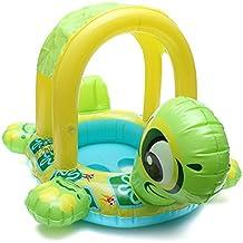 Paleo Bebé niños tortuga forma de anillo de la nadada del agua barco asiento inflable flotador