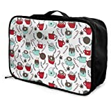 Portable Luggage Duffel Bag Hot Cocoa Christmas Travel Bags Carry-on In Trolley Handle