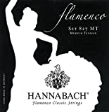 Hannabach Cordes de guitare classique Série 827 Medium tension Flamenco Classic Jeu de 3 Basses