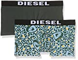 Diesel Umbx-Shawn, Bóxer para Hombre, Mehrfarbig (Green/Blue 01), Large (Pack de 2)