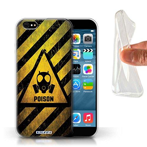 Stuff4 Gel TPU Hülle / Case für Apple iPhone X/10 / Atombombe Muster / Warnung Zeichen Kollektion Poison