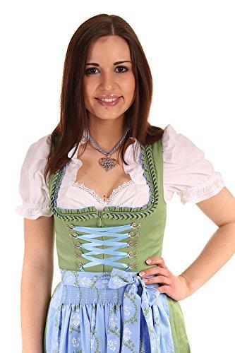 Turi Landhausmode Damen Dirndl lang D511074 9301 Amy Grün