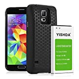 YISHDA Galaxy S5 Extended Battery, 6100mAh Replacement Samsung Galaxy S5 Battery with Back