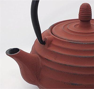 teeblume - Théière en fonte Xian 0,8 l rouge foncé