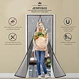 Jerrybox Fliegengitter Tür Insektenschutz Vorhänge Magnetvorhang Magnetischer Fliegenvorhang Moskitonetz für Türen/Balkontür, 90 x 210 cm, Schwarz