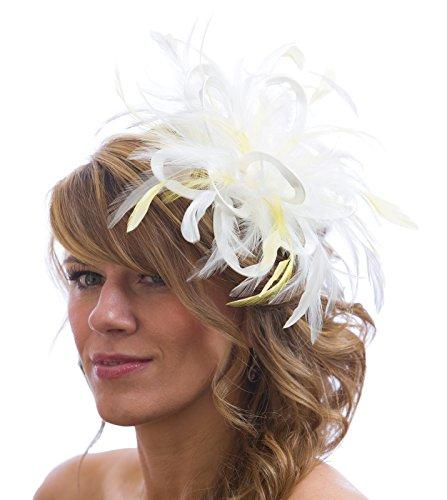 Maighread Stuart Millinery - Bandeau - Femme Multicolore - White/Pale Yellow