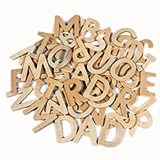 Amazing Arts and Crafts Wooden Letters Capitals 60 SUPPLIED IN CARDBOARD BOX