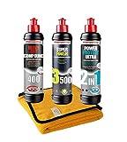 Menzerna 400 + 3500 + Ultra 2in1 + Microfasertuch Politur Schleifpaste Set-MENZ2