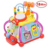 Limtoys Baby Toddler Musical Activity Cube Play Centre with Lights/Sounds, 6 Educational Games