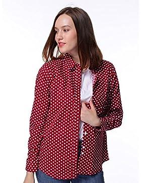 Dioufond® Camisas Mujer Manga Larga Estampada de Lunares