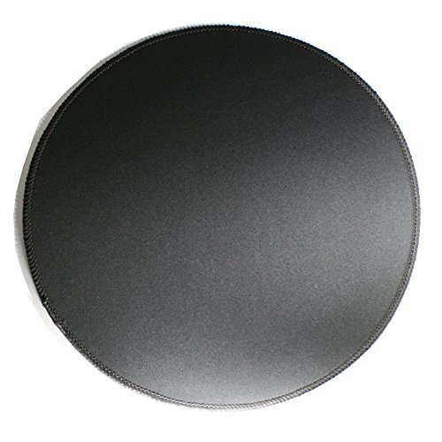 Woodland Kleine runde geformte Gaming Mouse Pad gen?hte Kanten Geschwindigkeit Seidig glatte Oberfl?che rutschfeste Gummiunterseite Mats 310x310x3mm / 12.2x12.2x0.12 Zoll schwarz R?ndern