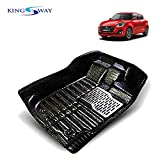#6: Kingsway 5D Car Floor Mats for Maruti Suzuki Swift (2018 Onwards) (Black Color, PVC)