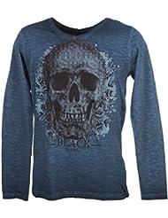 Rivaldi black - Merzu bleu ml tee - Tee shirt manches longues