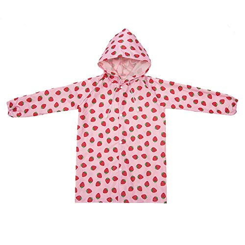 HMJNHDXW Age 2~6 Years Old Cute Kids Raincoat Girls Boys Rainwear Cartoon Children Waterproof Rain Coat Jacket Tour Rainwear