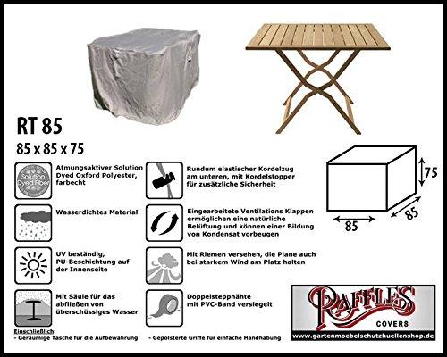 Raffles Covers RT85 Schutzhülle für Quadratische Gartentisch, Passt am Besten am Tisch von Max. 80...