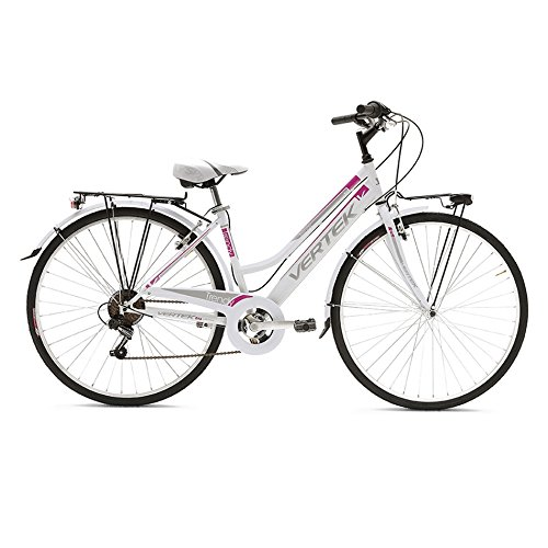 TRENDY VERTEK MUJER 28 PARA BICICLETA 7 VELOCIDADES BLANCO/FUXIA (CITY)/BICYCLE TRENDY FOR WOMAN 28/7 SPEED WHITE FUXIA (CITY)
