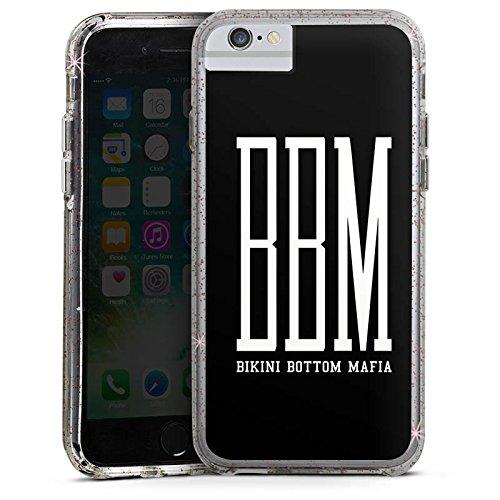 Apple iPhone 6s Plus Bumper Hülle Bumper Case Glitzer Hülle Bbm Bikini Bottom Mafia Spongebozz Bumper Case Glitzer rose gold