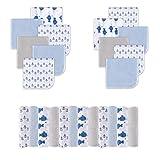 Viviland Babywaschlappen aus Baumwolle, extra weiches und ultra saugfähiges Frottier-Badetuch, 24er Geschenkpackung