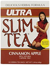 Ultra Slim Tea, Cinnamon Apple, Tea Bags, 24 Count Box