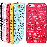 NightKid Nido de pájaro hueco diseño funda (iPhone 5C iPhone 4/4S iPhone 6S iPhone 6 iPhone 5/5S )(iPhone 6/4.7,Rojo)