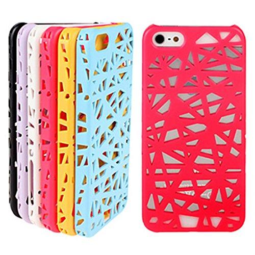 NightKid Nid d'oiseau creux conception coque (iPhone 5C iPhone 4/4S iPhone 6S iPhone 6 iPhone 5/5S )(iPhone 6/4.7,Rouge) Rose